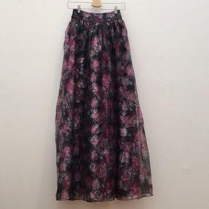 ASOS Floral Maxi Skirt High Waist Size US 2